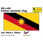 Cotton Sarawak Flag Size: 90cm X 180cm ( 3ft x 6ft )