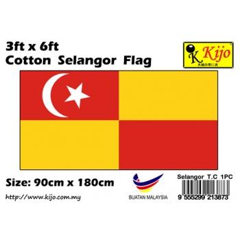 Cotton Selangor Flag Size: 90cm X 180cm ( 3ft x 6ft )