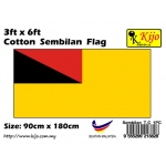 Cotton Sembilan Flag Size: 90cm X 180cm ( 3ft x 6ft )