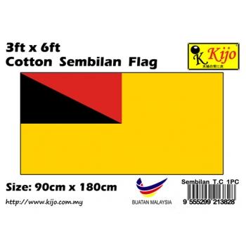 Cotton Sembilan Flag Size: 90cm X 180cm ( 3ft x 6ft )