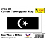 Cotton Terengganu Flag Size: 90cm X 180cm ( 3ft x 6ft )