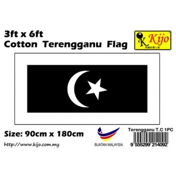 Cotton Terengganu Flag Size: 90cm X 180cm ( 3ft x 6ft )