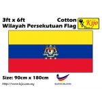 Cotton Wilayah Persekutuan Flag Size: 90cm X 180cm ( 3ft x 6ft )