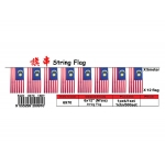6970 6inch X 12inch Nylon Malaysia or State Flag String*