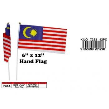 7233 KIJO 6''x12'' Malaysia Hand Flag*