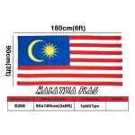 8398 90cm X 180cm Woolen Malaysia Flag