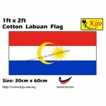 30cm X 60cm Cotton Labuan Flag