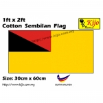 30cm X 60cm Cotton Sembilan Flag