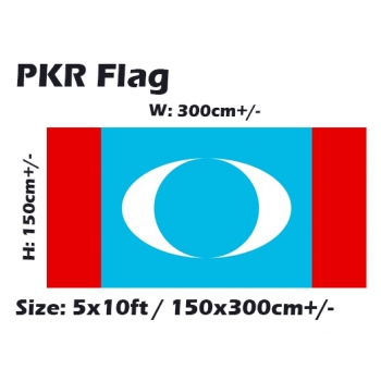 PKR 5x10ft PKR Parti Keadilan Rakyat  Flag