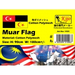 1925 90x180cm Muar Flag - Cotton Polymesh