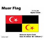 9697 60x120cm Muar Flag - Nylon Cloth