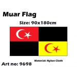 9698 90x180cm Muar Flag - Nylon Cloth