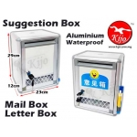 Suggestion Box Aluminium Waterproof Mail Box Letter Box with Window 7370