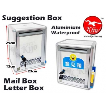 Suggestion Box Aluminium Waterproof Mail Box Letter Box with Window 7370