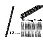 7579 12mm Plastic Binding Comb