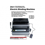 BM9526 KIJO Electric Wire & Plastic Comb Binding Machine