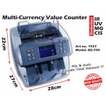 1927-XD-700 Multi-Currency Value Counter