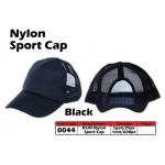 0044 Kijo Nylon Sport Cap - Black