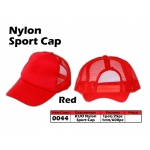 0044 Kijo Nylon Sport Cap - Red