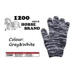 1200 Horse Cotton Glove > Grey&White
