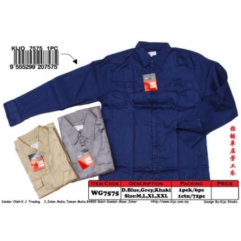 WG-7575 KIJO Worker Zip-Up Jacket Color - Blue