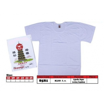 8581 Kijo Pagoda Cotton T-shirt Color - White
