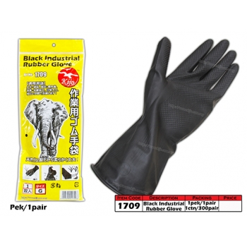 1709 KIJO Black Industrial Rubber Glove
