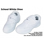 1742W School White Shoe