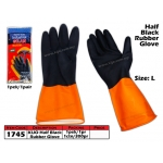 1745 Half Black Rubber Glove