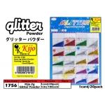 1756 KIJO Mix Colour Glitter Powder Card Set