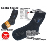 1946 Mens Crew Socks 1set=5pair - Black