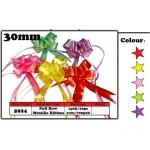 5924 30mm Pull Bow Metallic Yellow Ribbon