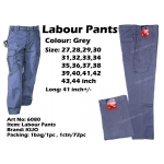 WP-6080 KIJO Worker Uniform Pants Grey Color