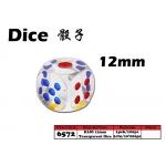 6572 Kijo 12mm Transparent Dice