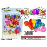 6628 Kijo No: 6 Colour Metallic Balloons