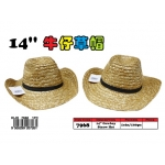 7968 14inch Straw Hat