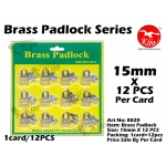 8820 Brass Padlock 15mm