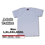 9001 Adult Cotton T-Shirt - White Color