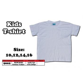 9002 Kids Cotton T-Shirt - White Color