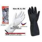 9028 KIJO Industrial Black Rubber Glove Size:G