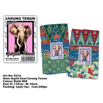 9616 Gajah Kuat Sarung Tenun
