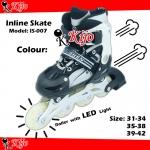Inline Skate / Kasut Roller - Black