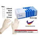 LEG138 Latex Examination Glove Size:X-Small