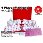 1867-Pink 4 Player Gold Pink White Mahjong