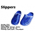 1761 Korea 100% Rubber Slippers - Blue