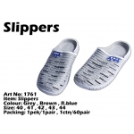 1761 Korea 100% Rubber Slippers - Grey
