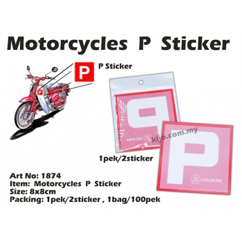 1874 Motorcycles P Sticker