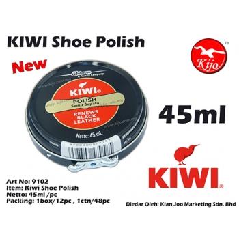9102 Kiwi Black Shoe Polish 45ml