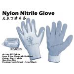 9137-Grey 5 Star Nylon Nitrile Glove