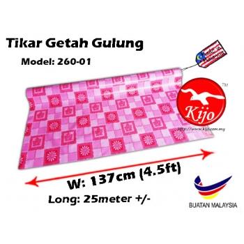 Tikar Getah Gulung / PVC Carpet Roll / Alas Meja Khemah Plastik 1620 260-01